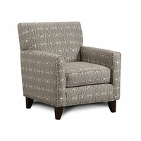 Furniture of America FOA-SM8563-CH-EC Parker Contemporary Chair, Crystal Pattern