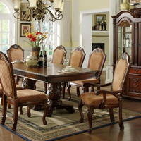 5e11892876 Furniture of America FOA-CM3005T-TABLE Napa Valley Traditional Formal Dining  Table w/