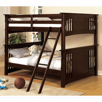 Furniture of America FOA-CM-BK603EXP-BED Spring Creek Cottage Full/full Bunk Bed, Dark Walnut Finish