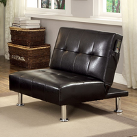 Furniture of America FOA-CM2669BK-CH Bulle Contemporary Chair w/ Side Pockets On Both Sides w/ Black