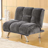 Furniture of America FOA-CM2904GY-CH Marbelle Contemporary Chair, Gray