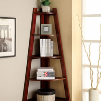 Furniture of America FOA-CM-AC6214CH Lyss Contemporary Ladder Shelf, Cherry