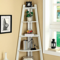 Furniture of America FOA-CM-AC6214WH Lyss Contemporary Ladder Shelf, White