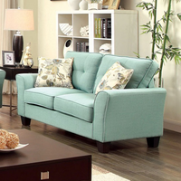 Furniture of America FOA-CM6266BL-LV Claire Transitional Love Seat, Blue