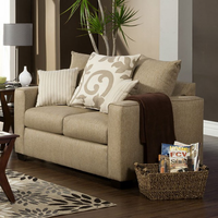 Furniture of America FOA-SM3011-LV Colebrook Transitional Love Seat, Beige