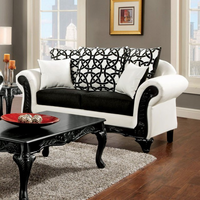 Furniture of America FOA-SM7600-LV Dolphy Traditional Love Seat