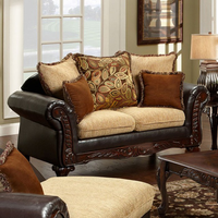 Furniture of America FOA-SM7430-LV Doncaster Traditional Love Seat