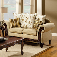 Furniture of America FOA-SM7435-LV Doncaster Traditional Love Seat