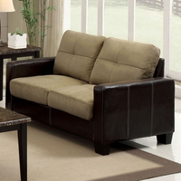 Furniture of America FOA-CM6598-L Laverne Contemporary Love Seat, Tan