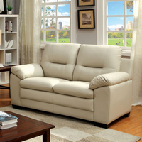 Furniture of America FOA-CM6324IV-LV Parma Contemporary Love Seat, Ivory Pu