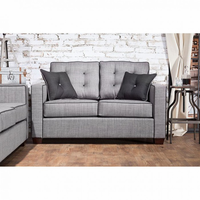 Furniture of America FOA-SM8801-LV Ravel I Contemporary Love Seat, Gray