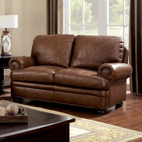 Furniture of America FOA-CM6318-LV Rheinhardt Transitional Love Seat, Brown