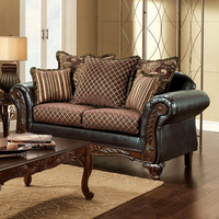 Furniture of America FOA-SM7635-LV San Roque Traditional Love Seat