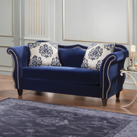 Furniture of America FOA-SM2231-LV Zaffiro Traditional Love Seat