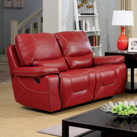 Furniture of America FOA-CM6814RD-LV Newburg Contemporary Two Recliner Love Seat, Red
