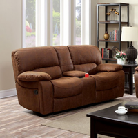 Furniture of America FOA-CM6315-LVCT Wagner Transitional Love Seat w/ Glider