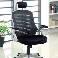 Furniture of America FOA-CM-FC613BK Cesta Contemporary Ht. Adjustable Office Chair