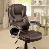 Furniture of America FOA-CM-FC624 Sibley Contemporary Office Chair, Brown