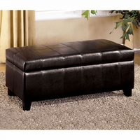 Furniture of America FOA-CM-BN6007 Luton Contemporary Storage Ottoman