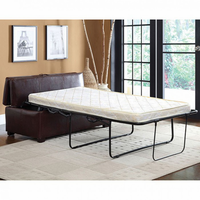 Furniture of America FOA-CM4703BRO Appoline Contemporary Ottoman w/ Pull-Out Bed, Brown