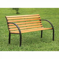 Furniture of America FOA-CM-OB1805 Dumas Cottage Patio Wooden Bench