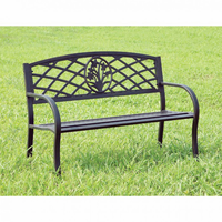 Furniture of America FOA-CM-OB1809 Minot Contemporary Patio Steel Bench