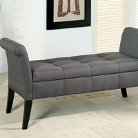Furniture of America FOA-CM-BN6190GY Doheny Contemporary Storage Bench, Gray