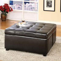 Furniture of America FOA-CM-BN6381 Petula Contemporary Storage Ottoman w/ 4 Drawers