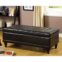 Furniture of America FOA-CM-BN6968-EXP Randel Contemporary Storage Ottoman, Espresso