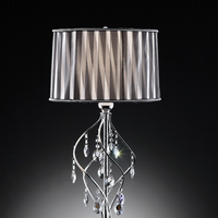 Furniture of America FOA-L95123T Arya Glam Table Lamp, Hanging Crystal