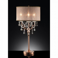 Furniture of America FOA-L95126T Cecelia Traditional Floor Lamp, Hanging Crystal