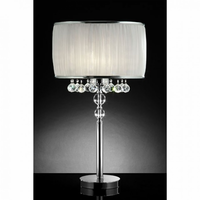 Furniture of America FOA-L95139T Chloe Contemporary Table Lamp, Hanging Crystal