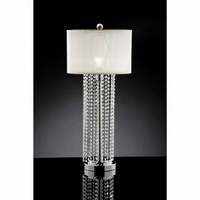 Furniture of America FOA-L99142T Claris Glam Table Lamp, Hanging Crystal