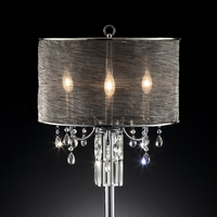 Furniture of America FOA-L95127T Gina Glam Table Lamp, Hanging Crystal