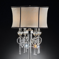 Furniture of America FOA-L95131T Juliana Glam Table Lamp, Hanging Crystal