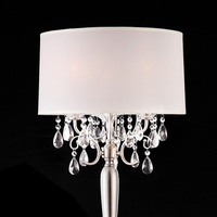 Furniture of America FOA-L95109T Sophy Glam Table Lamp, Hanging Crystal