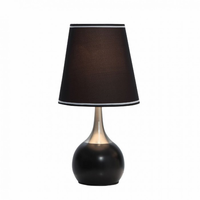 Furniture of America FOA-L9815BK Leah Contemporary Touch Lamp