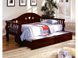 Furniture of America FOA-CM1625CH-BED Charlotte Cottage Daybed, Cherry Finish