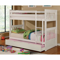 Furniture of America FOA-CM-BK607T-WH-BED Canberra Ii Cottage Twin/twin Bunk Bed
