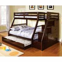 Furniture of America FOA-CM-BK611EX-BED Ellington Transitional Twin/full Bunk Bed