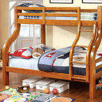 Furniture of America FOA-CM-BK618-BED Solpine Transitional Twin/full Bunk Bed, Oak