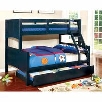 Furniture of America FOA-CM-BK608F-BL-BED Prismo Ii Cottage Twin/full Bunk Bed