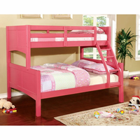 Furniture of America FOA-CM-BK608F-PK-BED Prismo Ii Cottage Twin/full Bunk Bed