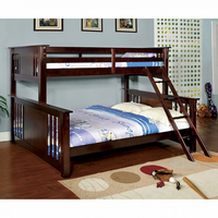 Furniture of America FOA-CM-BK604-BED Spring Creek Cottage Twin Xl/queen Bunk Bed, Dark Walnut Finish