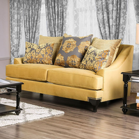Furniture of America FOA-SM2201-LV Viscontti Traditional Love Seat, Gold