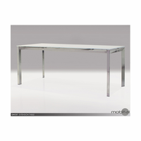 Ghost Dining Table White Glass