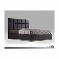 Glare Charcoal Tweed King Bed