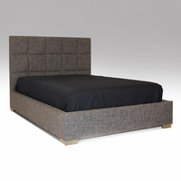 Glare Grey Leatherette Queen Bed