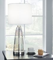 Ashley Express Furniture - Larrance - L431404 - Glass Table Lamp (1/CN), Gray