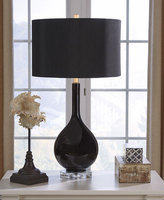 Ashley Express Furniture - Andres - L430504 - Glass Table Lamp (2/CN), Black